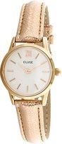 Cluse Women's 24mm Rose Gold-Tone Leather Band Steel Case Quartz Watch Cl50020