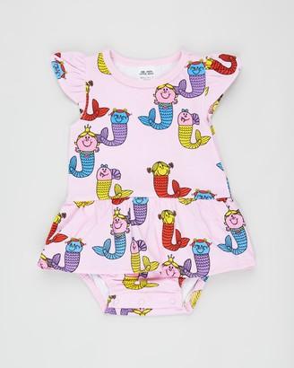 Walnut Melbourne Little Miss Ginger Frill Romper - Babies