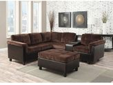 Acme Cleavon Reversible Sectional Sofa in Chocolate Champion