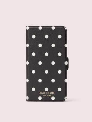Kate Spade Cabana Dot Iphone Xs Max Magnetic Wrap Folio Case