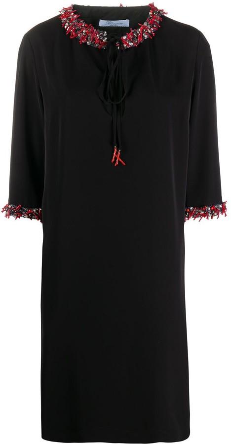 Blumarine Embellished-Collar Mini Dress