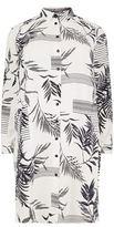 Marina Rinaldi Dieci Long Palm Print Shirt