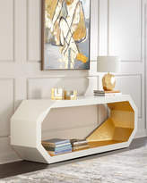 Global Views Marquee Gold Leaf Console Table