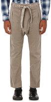 NSF Men's Distressed Cotton Karate Pants-DARK GREEN