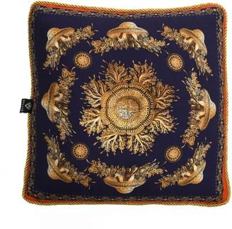 Bivain Neptunian Blue Silk Cushion