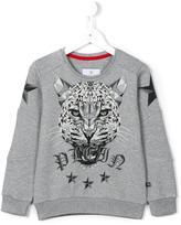 Philipp Plein geometric tiger print sweatshirt - kids - Cotton - 10 yrs