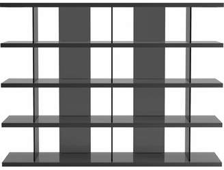 LIBRARY Orren Ellis Meena Bookcase Orren Ellis Color: Glossy Dark Gull Gray