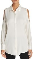 DKNY Cold Shoulder Silk Blouse - 100% Exclusive