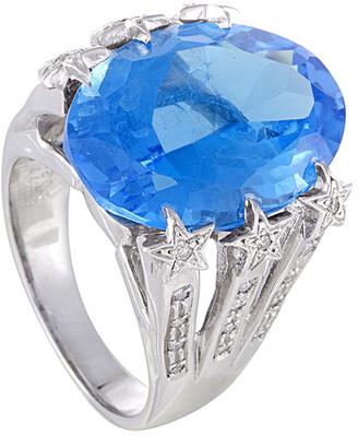 Generic Gemstones 14K 26.03 Ct. Tw. Diamond & Topaz Ring