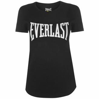Everlast Womens Graphic T Shirt Crew Neck Tee Top Short Sleeve Regular Fit Print Black Classic 14 (L)