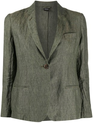 Aspesi Linen Single Breasted Blazer