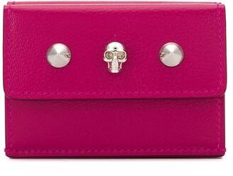 Alexander McQueen studded skull compact wallet