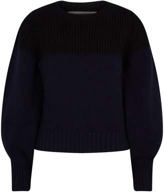 Alexander McQueen Cashmere Contrasting Knit Sweater