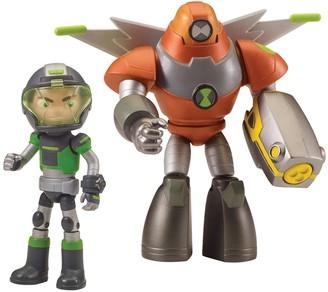 Ben 10 Action Figures - Twin Pack Space Armor Heatblast & Space Armor Ben