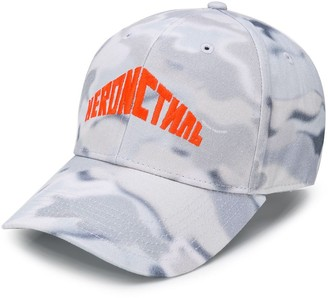 Heron Preston embroidered logo camouflage cap