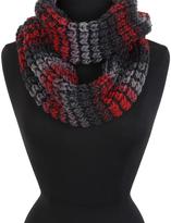 Cejon Red & Gray Knit-Stripe Infinity Scarf