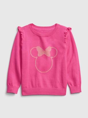 Disney babyGap   Minnie Mouse Crewneck Ruffle Sweater
