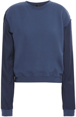 Haider Ackermann French Cotton-terry And Twill Sweatshirt