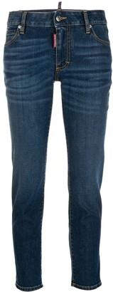 DSQUARED2 Logo Aplique Mid Rise Jeans
