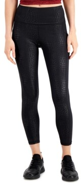 Ideology Croc-Embossed Side-Pocket 7/8 Leggings, Created for Macy's