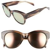 Salt Women's Hammen 54Mm Polarized Cat Eye Sunglasses - Hazy Taupe/ Rose Mirror