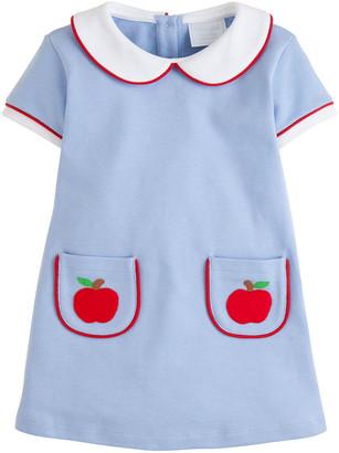 Little English Girl's Libby Apple Cotton A-Line Dress, Size 12M-8
