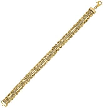 10k Gold Rope Chain Bracelet