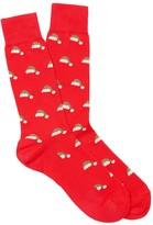 J.Mclaughlin Pima Cotton Sock in Santa Hat