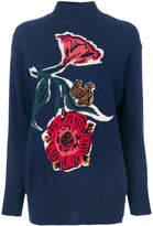 Paul Smith flower and squirrel detail sweater
