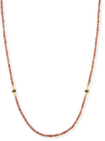 "Armenta Old World Beaded Zircon Necklace with Diamonds, 42"""