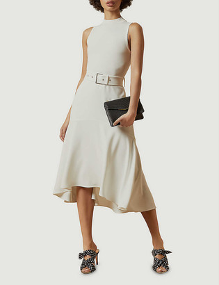 Ted Baker Corvala sleeveless knitted and crepe midi dress