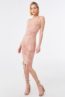 Forever 21 Ruched Bodycon Midi Dress