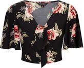 Miss Selfridge Oversized Floral Angel Sleeve Crop