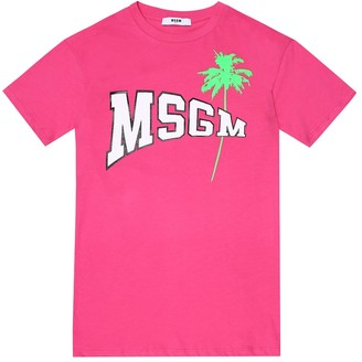 Msgm Kids Logo cotton T-shirt dress