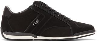 BOSS Black Suede Saturn Sneakers