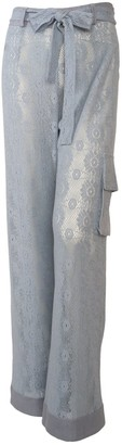 Relax Baby Be Cool Light Blue Cotton Lace Long Trousers