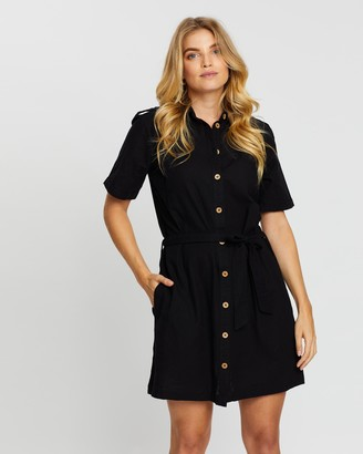 Dorothy Perkins Linen-Blend Shirt Dress