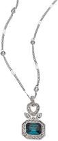 Carolee Regal Reflection Teal Pendant Necklace
