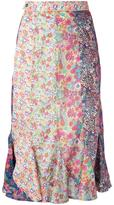 Olympia Le-Tan floral print midi skirt - women - Cotton - 36