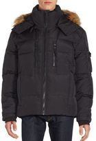 S13/Nyc Faux Fur Trimmed Quilted Parka Jacket
