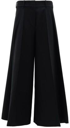 KHAITE Selma High-rise Cotton Wide-leg Trousers - Black