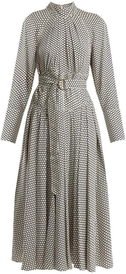 Diane von Furstenberg Rowe dot-print stretch-silk dress