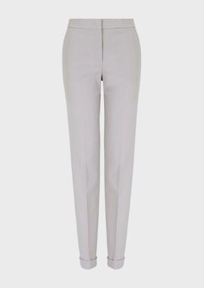 Giorgio Armani Slim-Fit Trousers In Stretch Wool Crepe