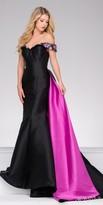 Jovani Off the Shoulder Pop of Color Beaded Prom Dress