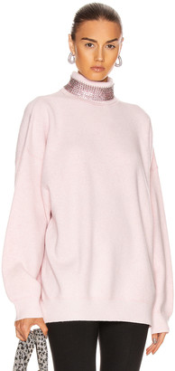 Alexander Wang Crystal Neck Turtleneck Sweater in Pink | FWRD