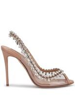 Aquazzura Temptation crystal-embellished peep-toe sandals