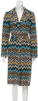 M Missoni Patterned Silk Trench-Coat