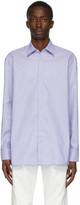 Maison Margiela White and Blue Micro Stripe Shirt