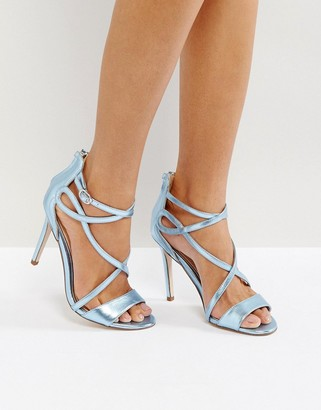 Miss KG Fiesta Metallic Strap Heeled Sandals