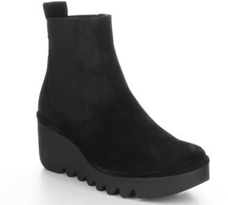 Fly London Nubuck Leather Rubber-Heel Boots - Bagu